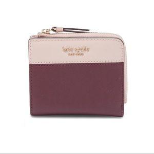 Kate Spade Cherry Wood & Warm Vellum Wallet NWT